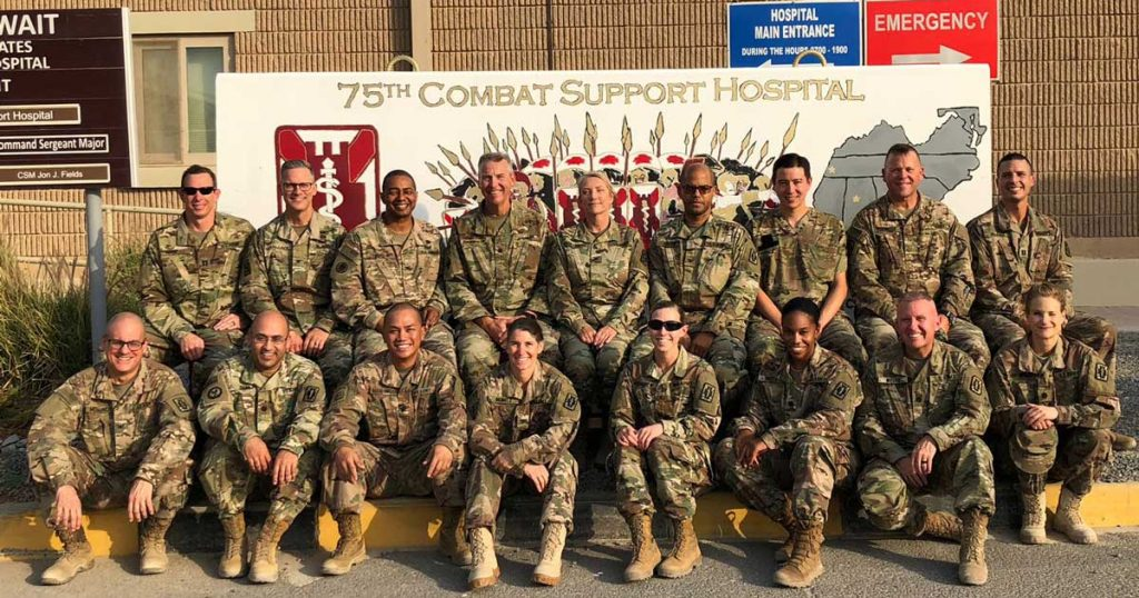 CRNAs of the 75th Combat Support Hospital