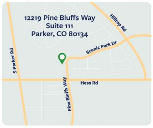 Map of Invision Sally Jobe Parker location at Pine Bluffs Way and Hess Road
